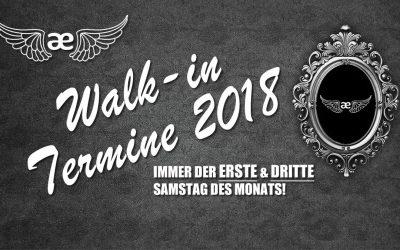 Walk-in Termine 2018