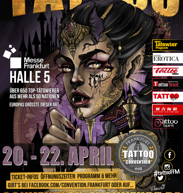 26. int. Tattoo Convention Frankfurt 20. – 22. April