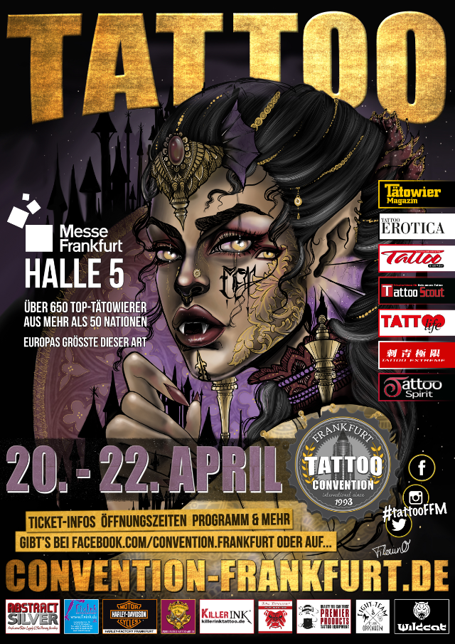 Termine - Dates: 26. int. Tattoo Convention Frankfurt 20. - 22. April