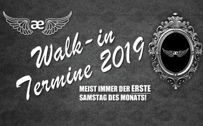 Walk-in Termine 2019