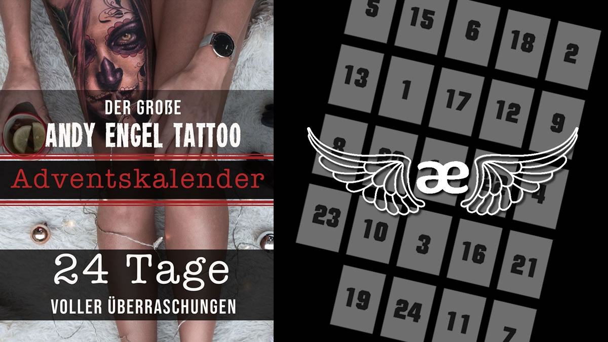 24 Tage – 24 Gewinne: Der Andy Engel Tattoo Adventskalender